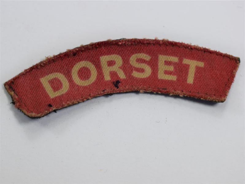 Original WW2 Dorset Regiment Printed Cloth Shoulder Title