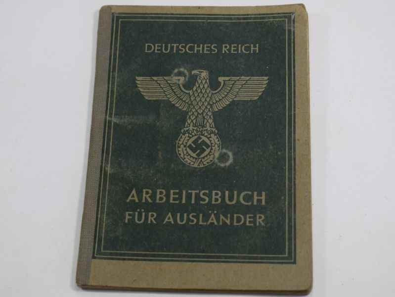23 Original WW2 German Work Book For Foreigner