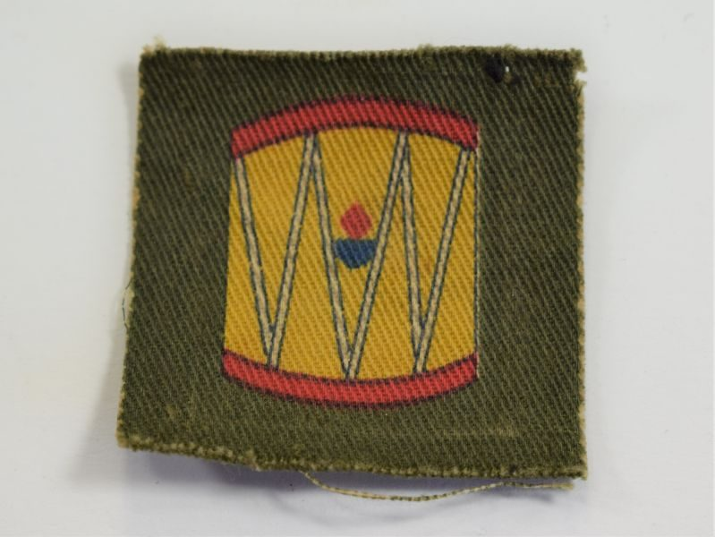 Original WW2 Printed Cloth Badge to The 45th Wessex Regt