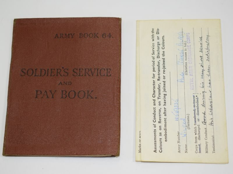 WW2 British Army Issue Soldiers Service & Pay Book