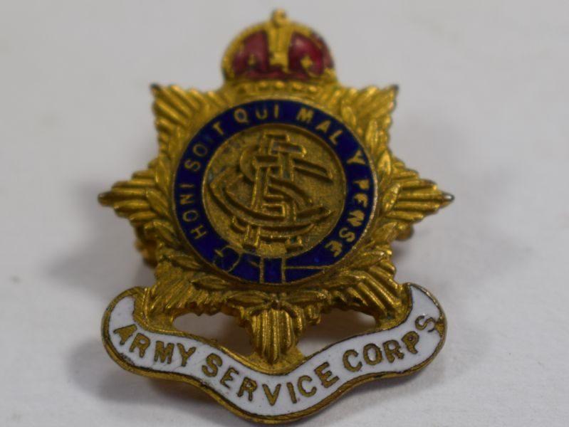 WW1 Army Service Corps Enamelled Sweetheart Brooch.