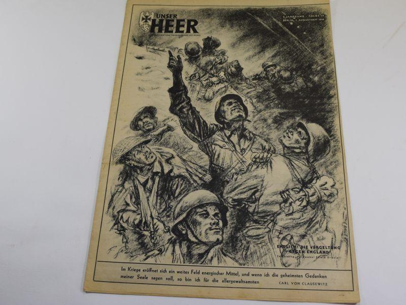 3 WW2 German Army Magazine Unser Heer August 1944 British & German Troops