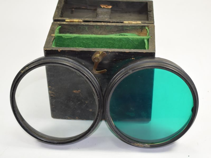 WW2 RAF Signalling Lamp Coloured Filters & Wooden Box AM 5A/2368