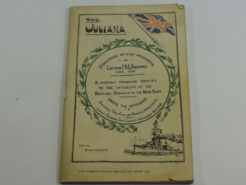 Royal Navy Magazine The Juliana for British Services in the Near East Christmas 1921
