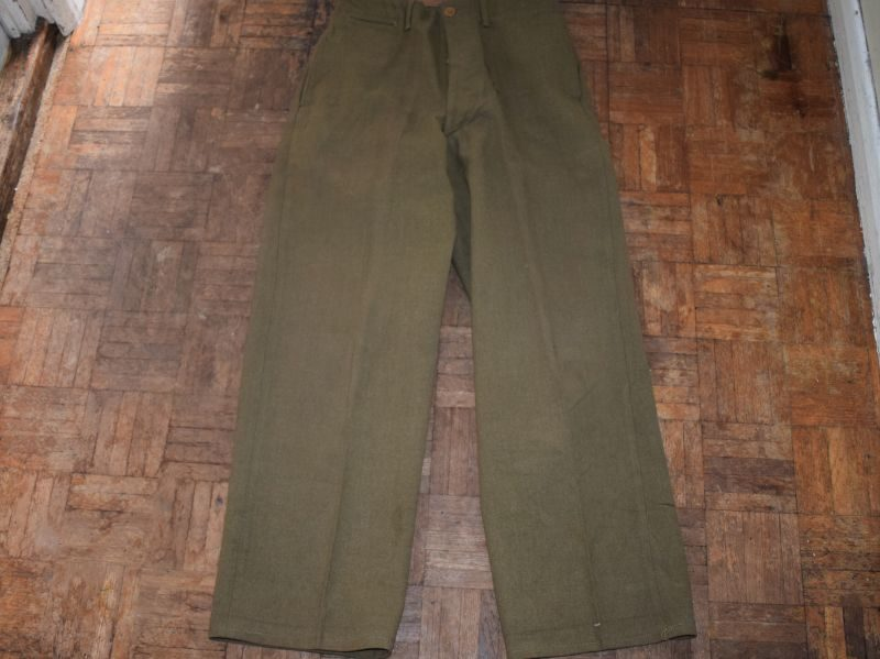12 WW2 US Army Issue M-1937 Wool Serge Trousers