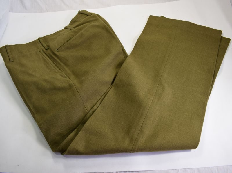 14 Near Mint WW2 US Army Issue M-1937 Wool Serge Trousers 1941