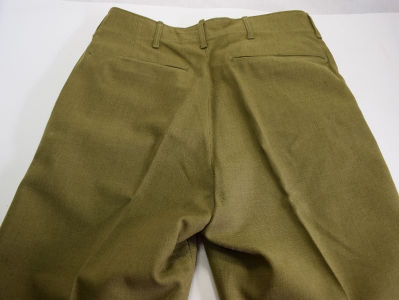14 Near Mint Ww2 Us Army Issue M 1937 Wool Serge Trousers