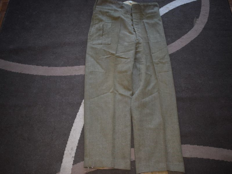 31 WW2 Canadian Made Battledress Trousers in A Large Size