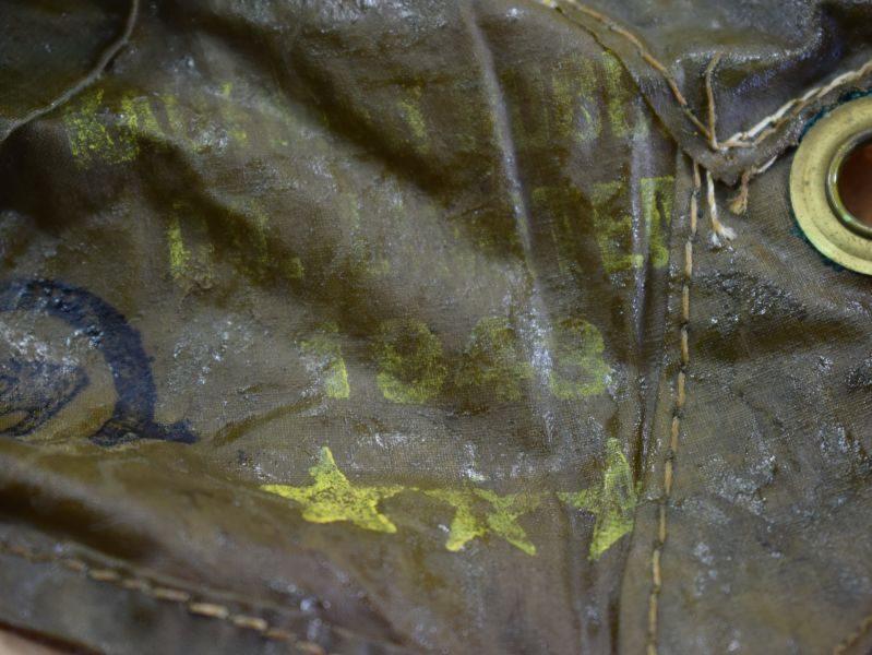 WW2 Canadian Made Anti Gas Helmet Hood in Camouflage 1943