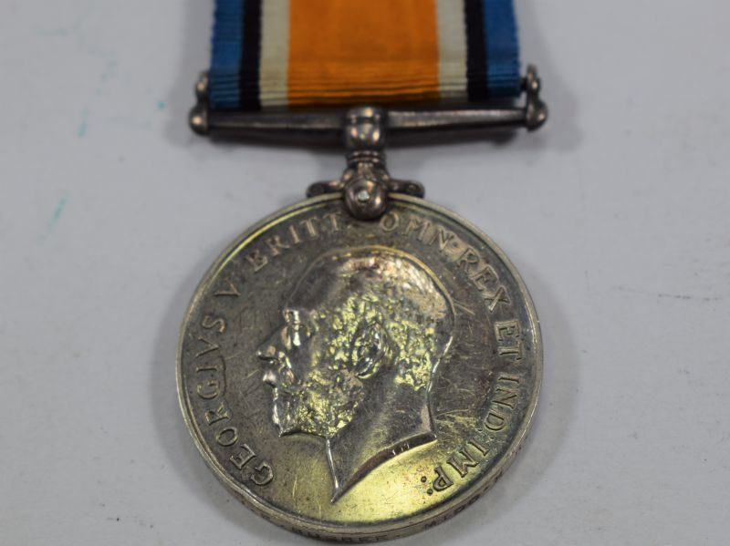 Full Size WW1 British Army War Medal 266257 Pte H.E.Bugbee Middlesex Regt