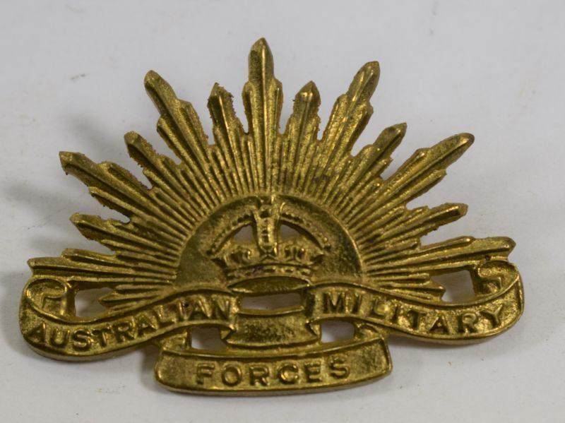 Original WW1 WW2 Australian Military Forces Hand Cast Cap Badge