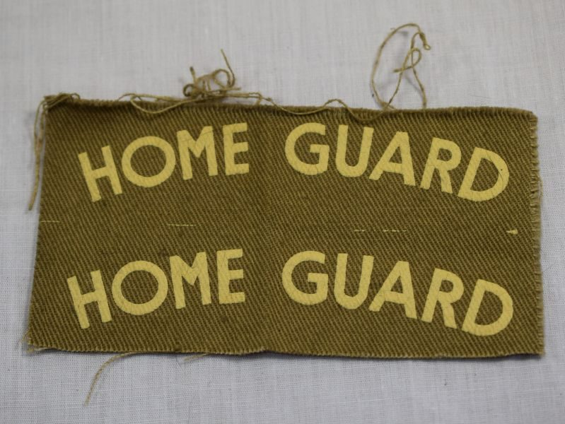 Original Uncut Pair of WW2 Home Guard Printed Shoulder Titles