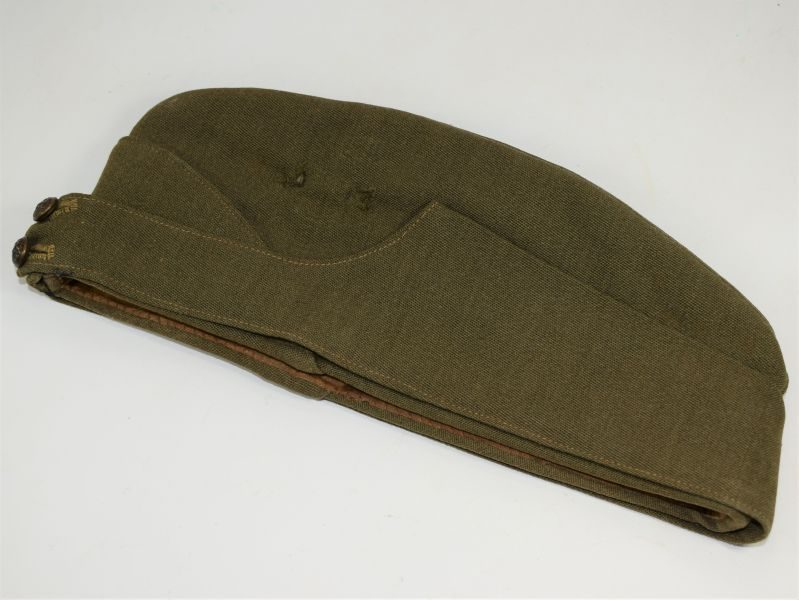 15 Excellent WW2 Officers Private Purchase FS Cap With Canadian ID