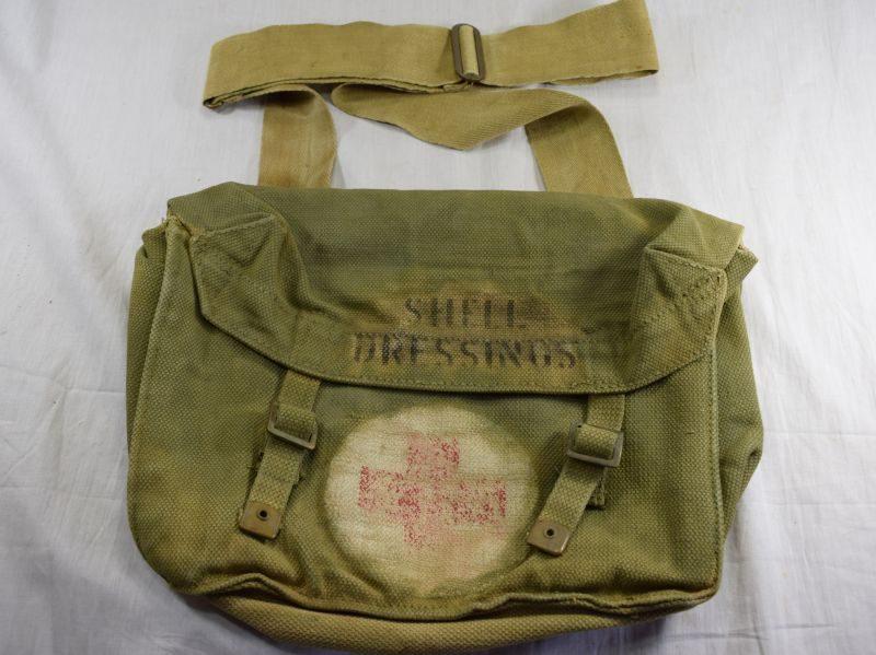 Original WW2 British Army Shell Dressings Bag M&Co 1942