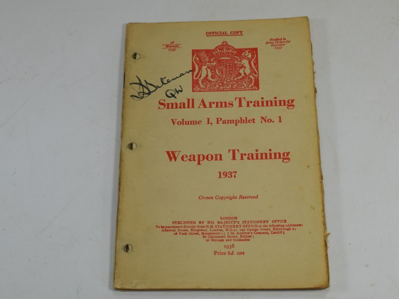 17 WW2 Small Arms Training Volume I Pamphlet No 1 Weapon Training 1937