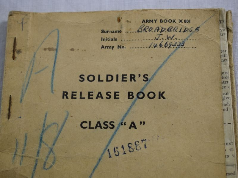54 WW2 Soldiers Service & Army Book & Release Book J.W.Broadbridge 1st Armoured Div Signals Regt