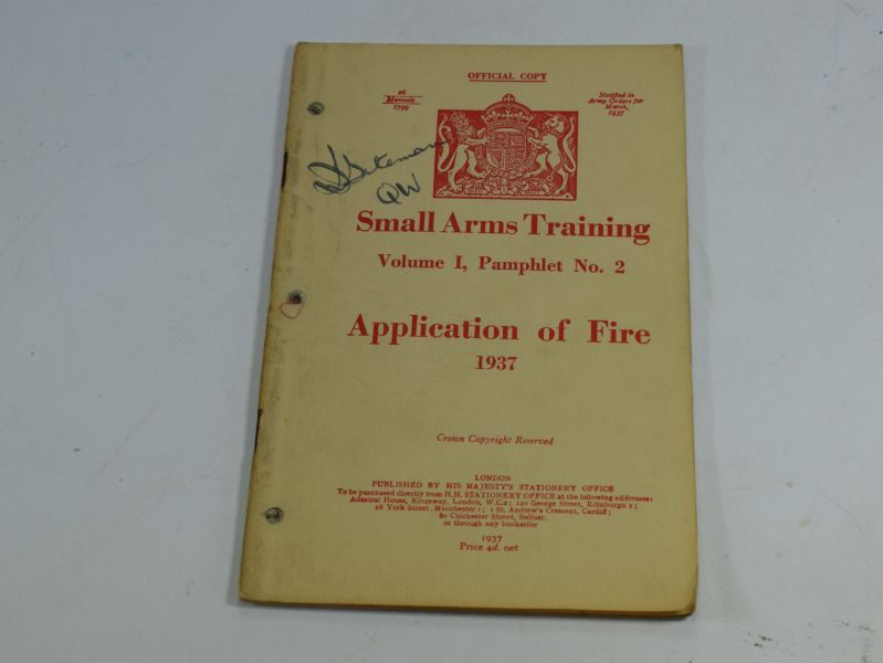 18 WW2 Small Arms Training Volume I Pamphlet No 2 Application of Fire 1937