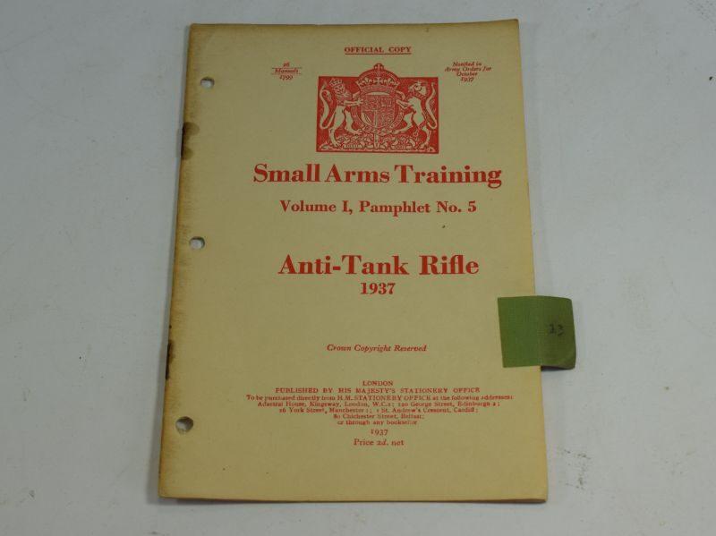 21 WW2 Small Arms Training Volume I Pamphlet No 5 Anti-Tank Rifle 1937