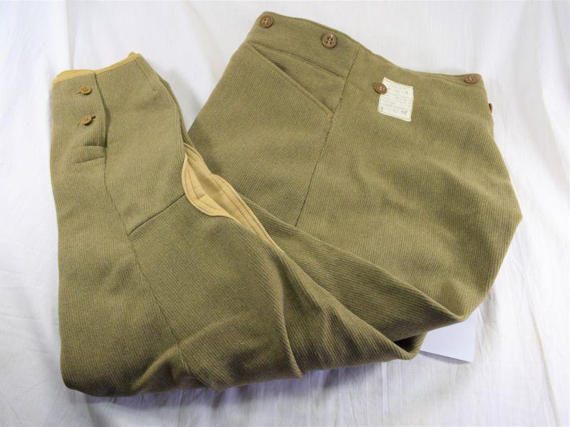 Original WW2 British Dispatch Riders Breeches Dated 1943