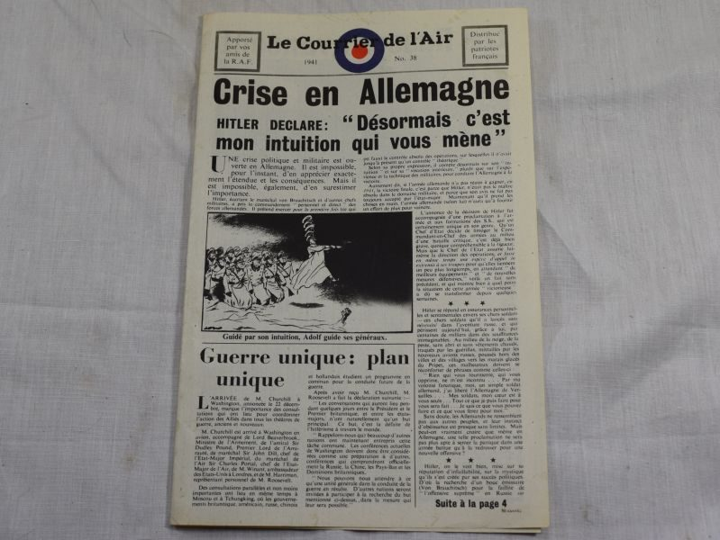 61 Original WW2 RAF Air Drop Miniature Newspaper in French 1941