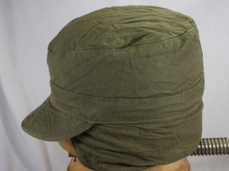 US Army Korean War Cap Field OD With Visor, for wear under helmet
