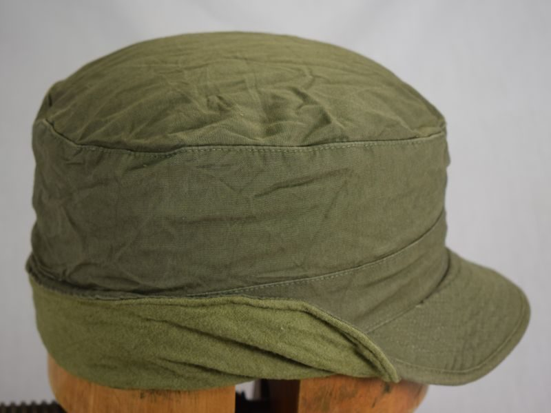 US Army Korean War Cap Field OD With Visor, for wear under helmet