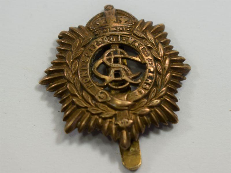 Original WW1 Army Service Corps Brass Cap Badge