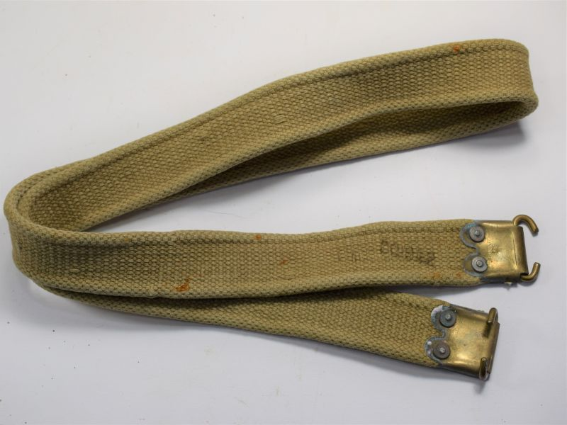 Excellent WW2 Indian Made British Service Rifle Sling Dated 1941