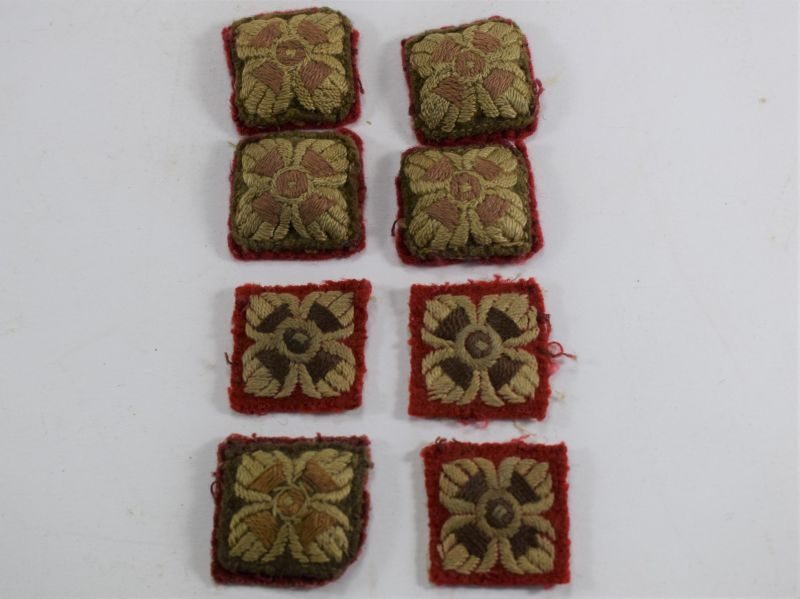 10 Set of 8 Original WW1 WW2 British Cloth Rank Pips