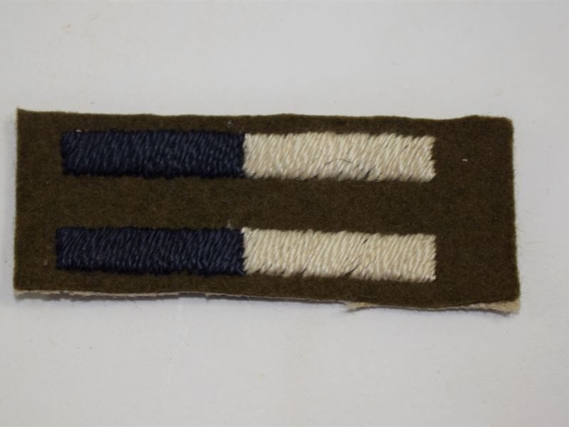 WW2 British Army Royal Signals Arm of Service Stripe Pair