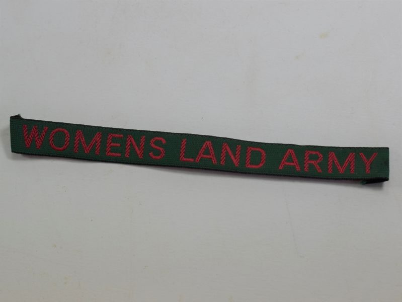 Unidentified Original WW2 Womens Land Army Cloth Tape Title