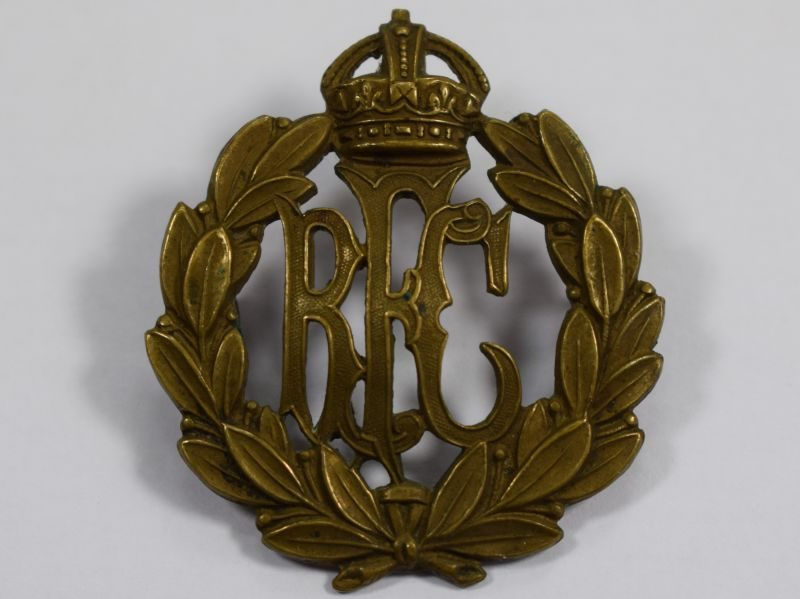 Original WW1 Royal Flying Corps Brass Cap Badge
