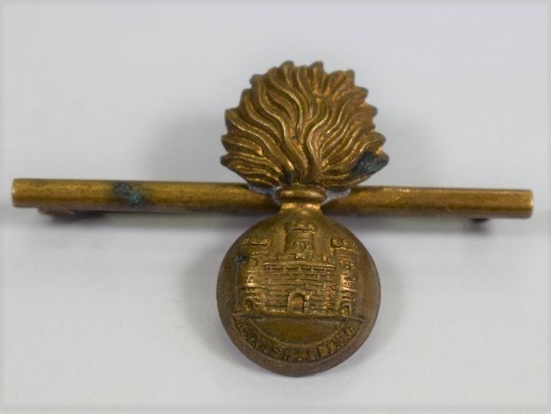 Excellent WW1 WW2 Brass Sweetheart Brooch Inniskilling Fusiliers