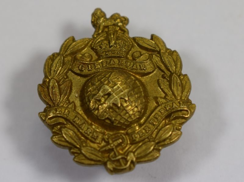 WW1 WW2 Royal Marines Brass Lapel Badge
