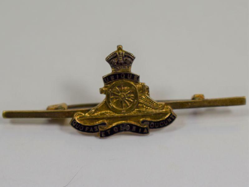 WW1 WW2 Royal Artillery Pin Back Sweetheart Brooch