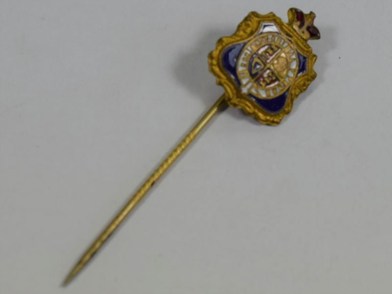 Interesting Victorian Enamelled Coat of Arms Tie Pin