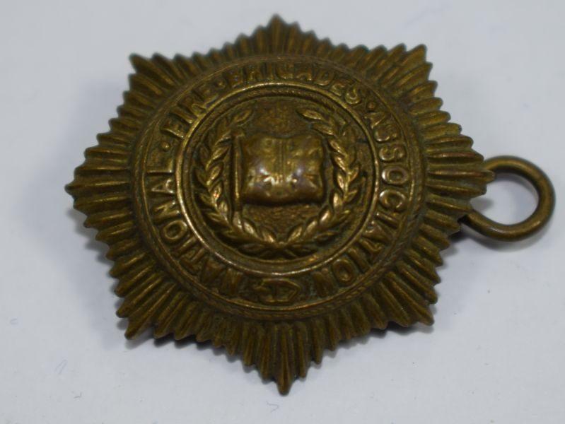 Small Brass National Fire Brigades Association Badge