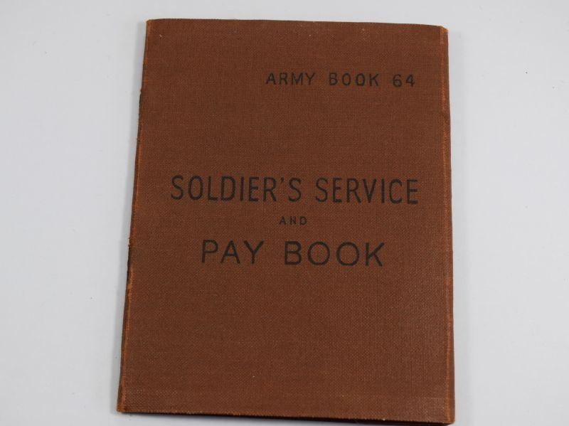WW2 British Army Soldiers Service & Pay Book with Photo 2090747 G.J.Grinter