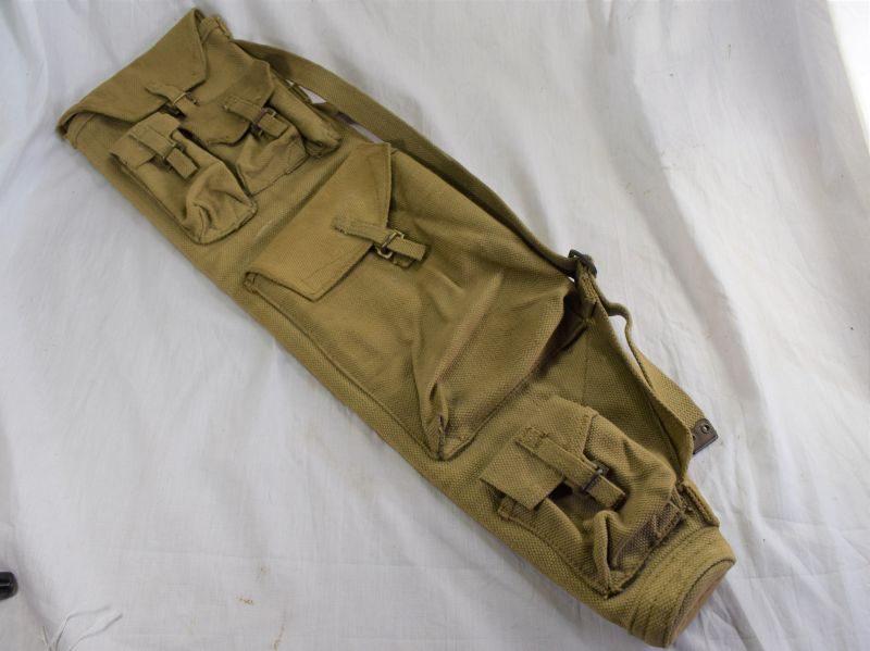 41 Excellent Late WW2 British Army Issue Bren Spare Barrel Bag D.R.M.Ltd 1945