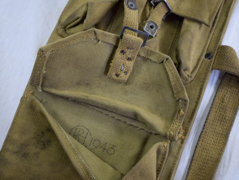 42 Nice Original WW2 Canadian Made Bren Spare Barrel Bag Dated 1943