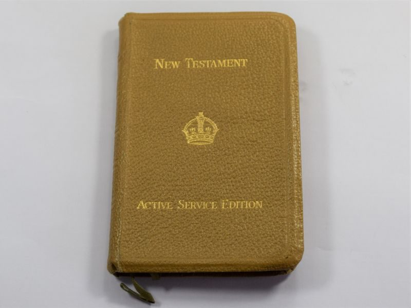 Excellent WW2 British New Testament Active Service Edition 1939 With ID