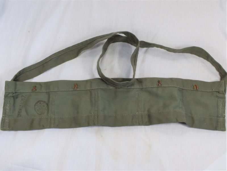 Post WW2 Indian Made British Army JG Cloth Ammo Bandolier Dated 1967