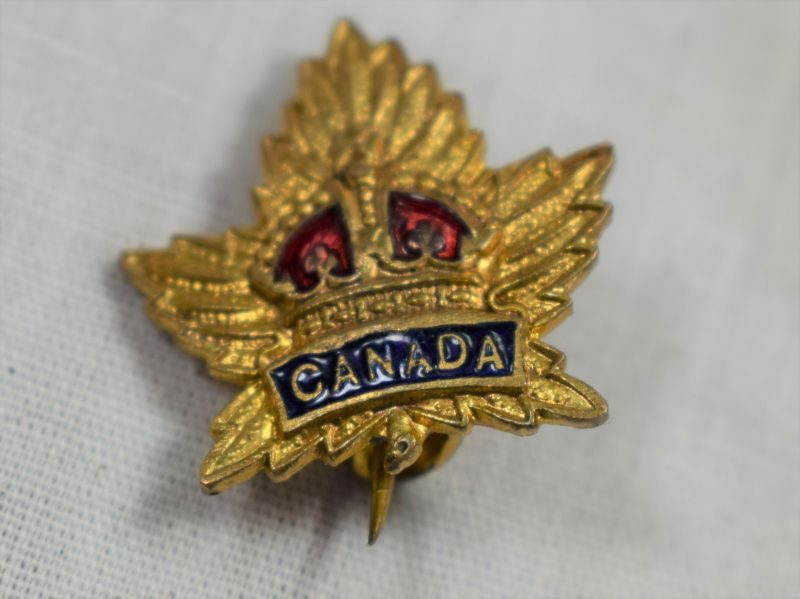 54 Tiny WW1 WW2 Canadian Military Sweetheart Brooch