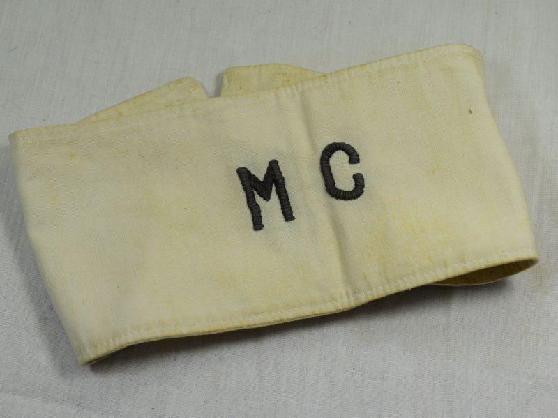 WW1 WW2 British Military White Armlet With Black MC to Front RAMC?