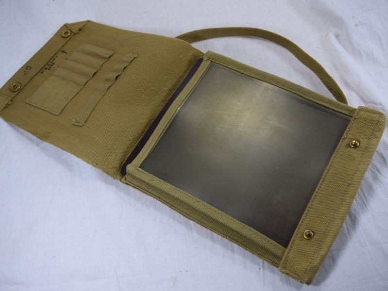 WW2 British Army Issue 37 Pattern Webbing Case Map Dated 1944