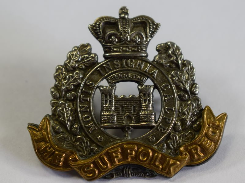 1 Excellent Original Victorian Cap Badge The Suffolk Regiment