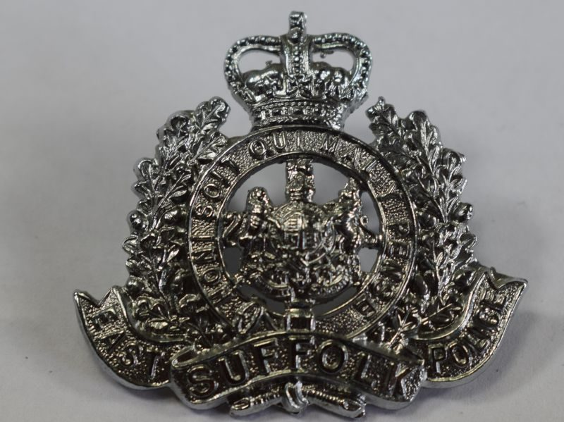 Vintage Original Cap Badge to The East Suffolk Police
