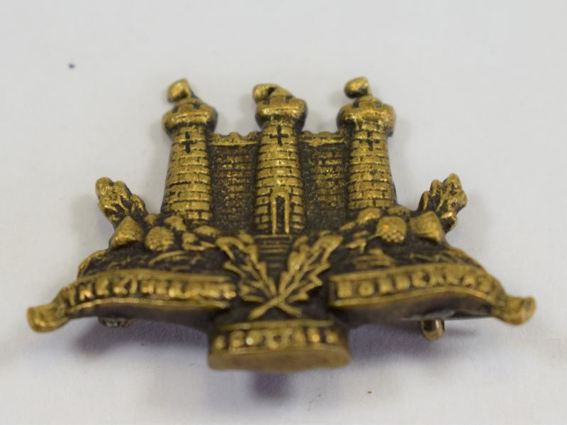Early The Kings Own Scottish Borderers Pin Back Brooch