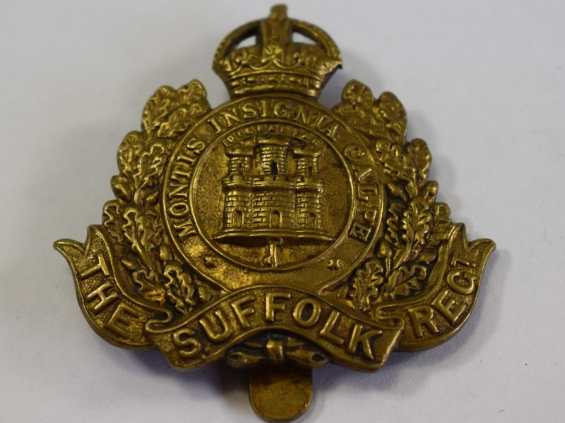 4 Excellent Original WW1 WW2 Cap Badge The Suffolk Regiment