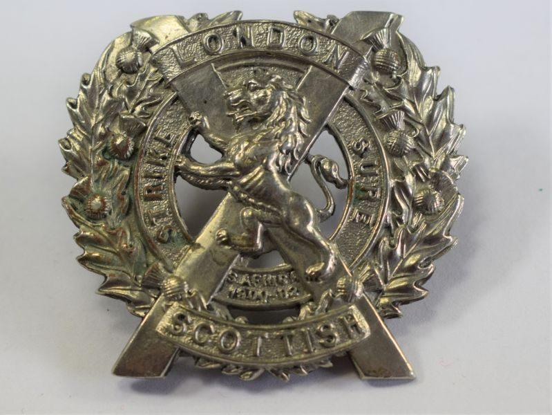 Excellent Original WW1 WW2 Cap Badge To The London Scottish Regiment